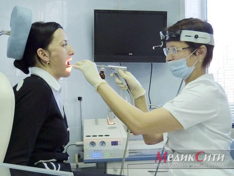 Санация верхних дыхательных путей в МедикСити