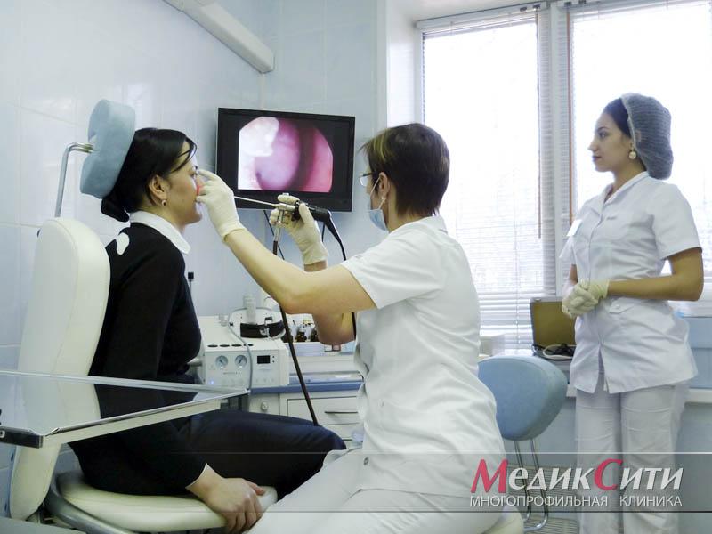 Эндоскопический осмотр ЛОР-органов в МедикСити